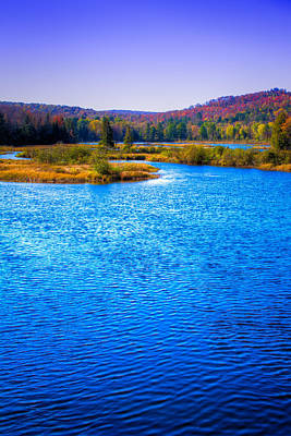Autumn Foliage Photograph - The Moose River In Autumn by David Patterson