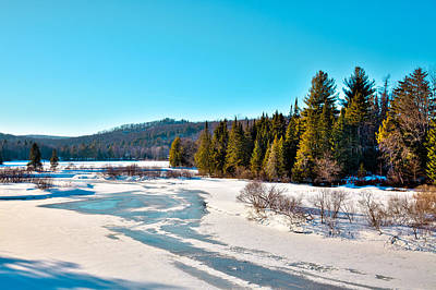 Guns Arms And Weapons - The Moose River in Winter by David Patterson