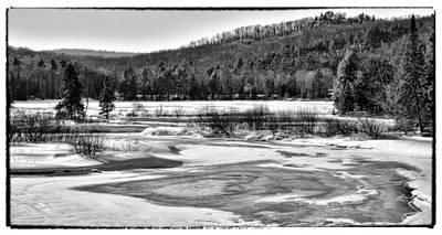The Moose River In Winter - Old Forge New York Art Print