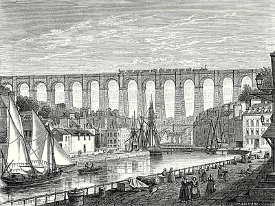The Morlaix Viaduct On The Paris To Brest Railway Line Art Print