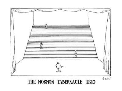 The Mormon Tabernacle Trio Art Print