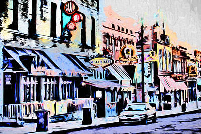Painting - Memphis - Beale Street - The Morning After by Barry Jones