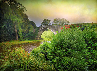 Art Print featuring the photograph The Morning Bridge by Roy  McPeak