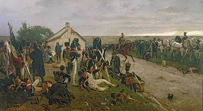 Trumpet Painting - The Morning Of The Battle Of Waterloo by Ernest Crofts