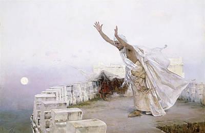 The Morning Prayer Art Print by Salvador Viniegra y Lasso de la Vega