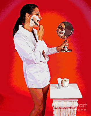 Photograph - The Morning Shave by Larry Oskin