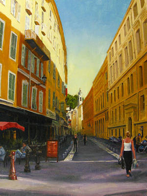 The Morning's Shopping In Vieux Nice Art Print