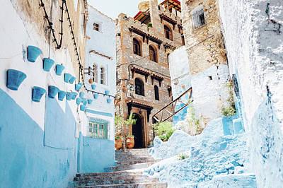 The Moroccan Blue City, Chefchaouen Art Print by Oscar Wong