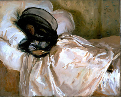 Net Painting - The Mosquito Net by John Singer Sargent