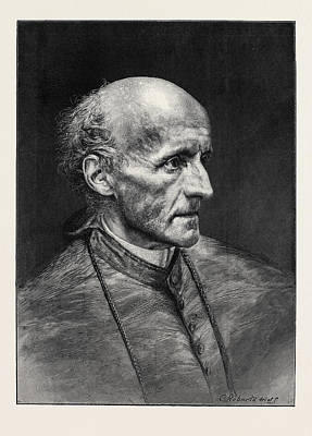 Manning Drawing - The Most Reverend Henry Edward Manning by English School