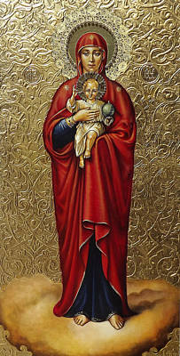 Russian Icon Painting - The Mother Of God Of Valaam by Fr Barney Deane