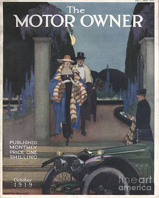 Nineteen-tens Drawing - The Motor Owner 1919 1910s Uk Cars by The Advertising Archives