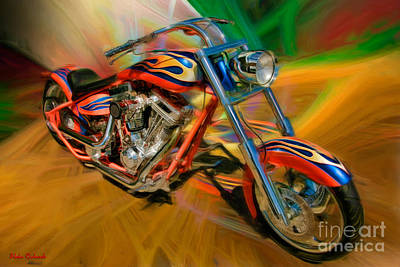 The Motorcyclerow Art Print by Blake Richards