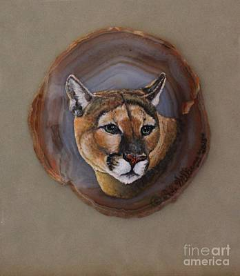Featured Images Drawing - The Mountain Lion by Bob Williams