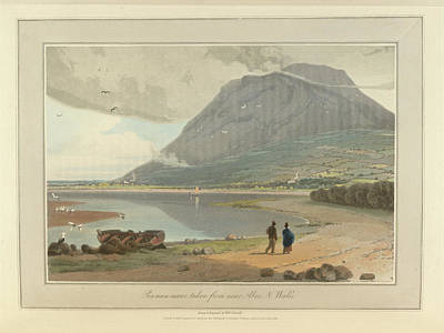 The Mountain Peak Of Penman-mawr Art Print by British Library
