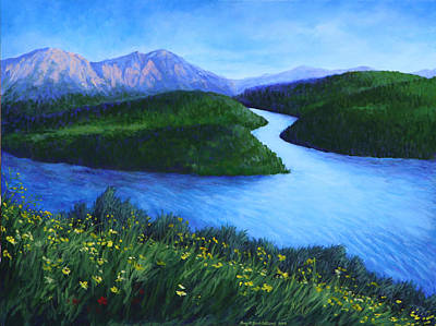 Painting - The Mountains Beyond by Penny Birch-Williams