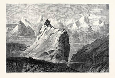 The Mountains Of The Oberland From The Faulhorn Art Print by Collingwood Smith, William (1815-1887), English