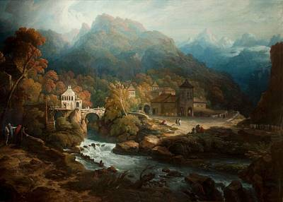 C18th Painting - The Mountains Of Vietri by Philip Reinagle