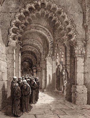 Miguel Art Drawing - The Mourners For Durandarte In The Cave Of Montesinos by Litz Collection