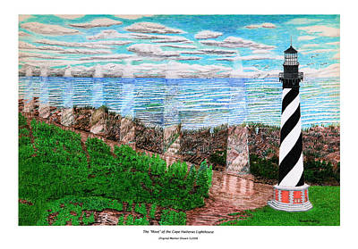 The Move Of The Cape Hatteras Lighthouse Art Print by Frank Evans