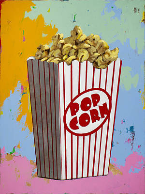 Popcorn Painting - The Movies #2 by David Palmer