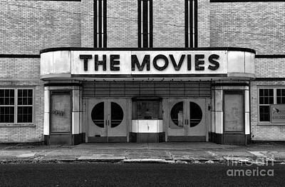 The Movies - Black And White Art Print by Paul Ward
