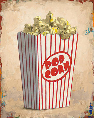 Popcorn Painting - The Movies by David Palmer