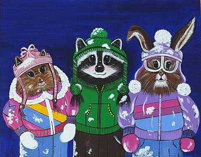 Painting - The Mt. Bachelor Brats by Jennifer Lake