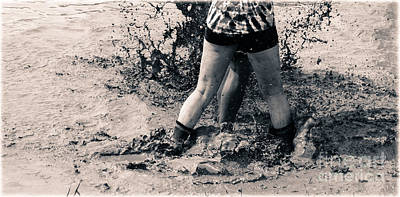 Volleyball Photograph - The Mud Feeder  by Steven Digman