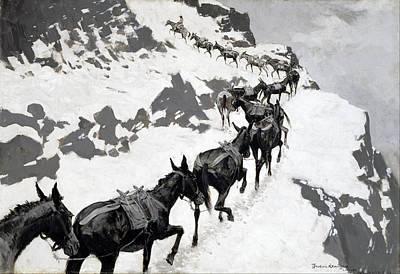The Mule Pack Art Print