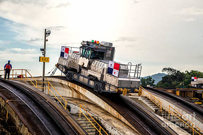 Photograph - The Electric Mules Panama Canal by Rene Triay Photography