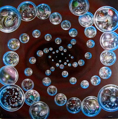 Cosmology Painting - The Multiverse In God's Eye by Sam Del Russi