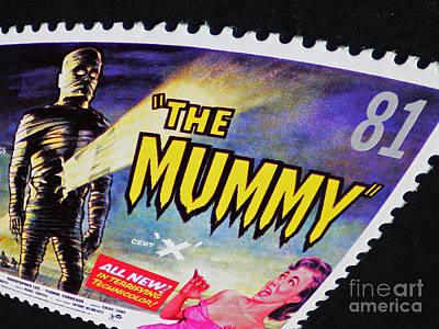 The Mummy Postage Stamp Print Art Print