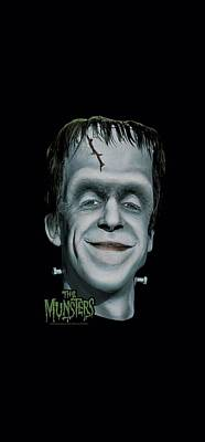 Monster Digital Art - The Munsters - Herman's Head by Brand A