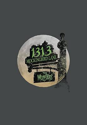 Monster Digital Art - The Munsters - Moonlit Address by Brand A