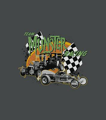 Monster Digital Art - The Munsters - Munster Racing by Brand A