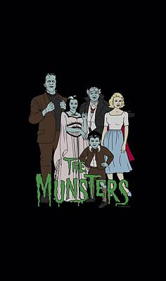 Monster Digital Art - The Munsters - The Family by Brand A
