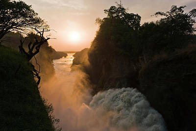 The Murchison Falls Of The River Nile Art Print by Martin Zwick