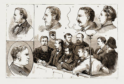 Fitzsimons Drawing - The Murder League In Ireland, Examination At Kilmainham by Litz Collection