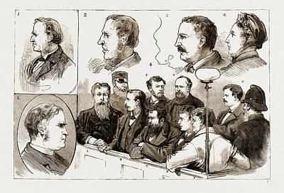 Found Art Drawing - The Murder League In Ireland, Examination At Kilmainham by Litz Collection