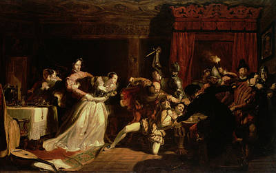 Lute Photograph - The Murder Of David Rizzio, 1833 Oil On Panel by Sir William Allan