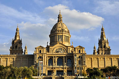 Photograph - The Museu Nacional D'art De Catalunya by Andrew Dinh