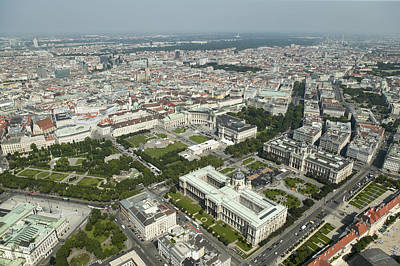 Historic Photograph - The Museums Area And Hofburg Palace by Xavier Durán