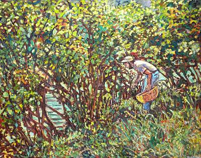 Painting - The Mushroom Picker by Kendall Kessler