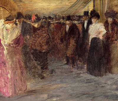 Evening Wear Painting - The Music Hall by Jean Louis Forain