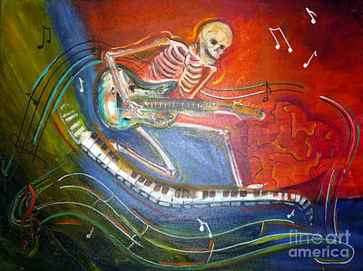The Music Must Go On Art Print
