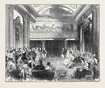 Buckingham Palace Drawing - The Music Room, Buckingham Palace by English School