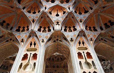 Safavid Photograph - The Music Room Of The Ali Qapu Palace At Isfahan In Iran by Robert Preston