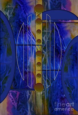 The Musical Abstraction Art Print by Allison Ashton