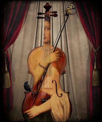 Digital Art - The Musician by Marie  Gale
